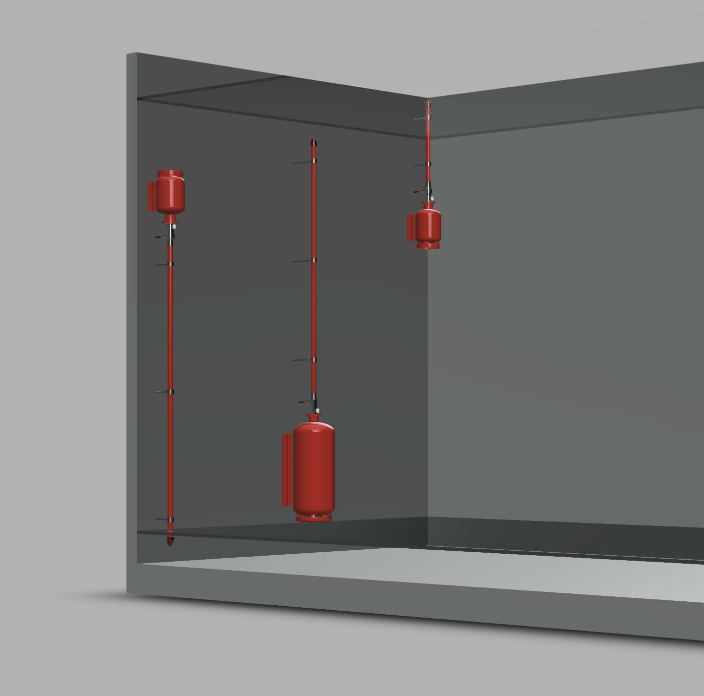 Modular Pre-Engineered Piped Fire Suppression System