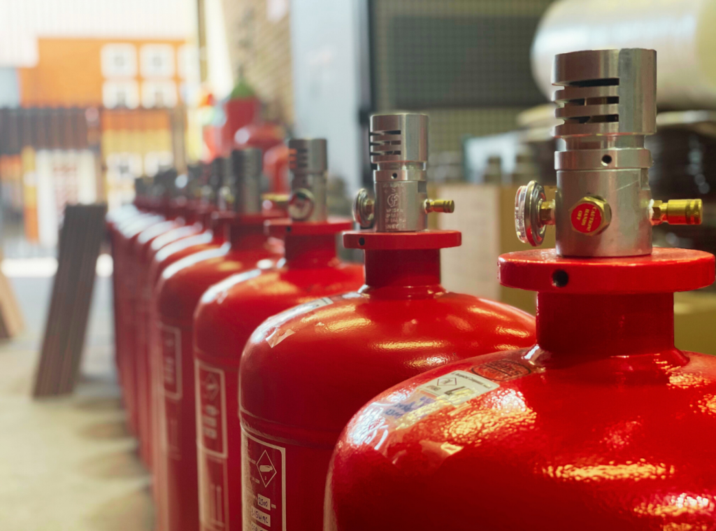 HFC227ea Fire Suppression System Gas Cylinders